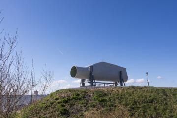 Herbruikte stalen balken uit Antwerpen voor kunstwerk Elmo Vermijs Zuiderzee museum